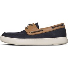 Image of FitFlop Australia NAVY/LT TAN MEN'S LAWRENCE™ BOAT-STYLE SHOES MDNT NVY/LT TAN