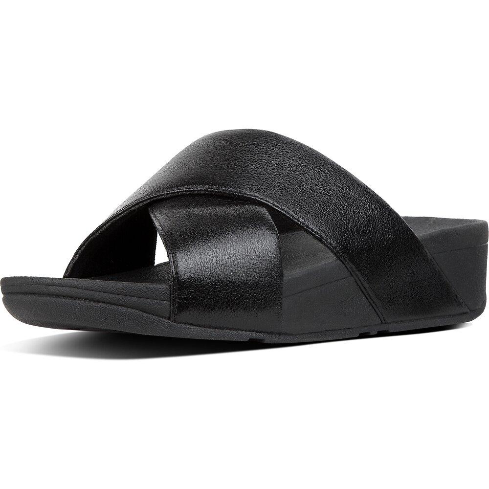 Image of FitFlop Australia BLACK LULU™ SLIDE NEW GLITZ BLACK