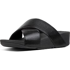 Image of FitFlop Australia BLACK LULU™ SLIDE NEW GLITZ BLACK