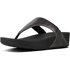 Image of FitFlop Australia PEWTER LULU™ TOE POST NEW GLITZ PEWTER