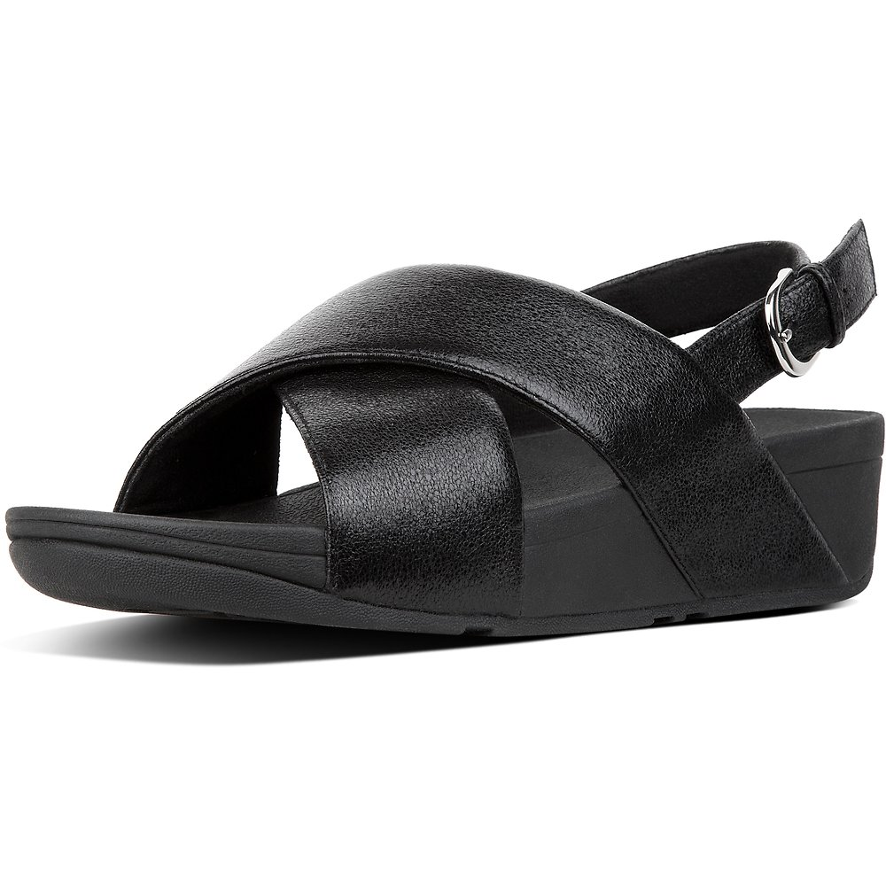 Image of FitFlop Australia BLACK LULU™ SANDAL NEW GLITZ BLACK