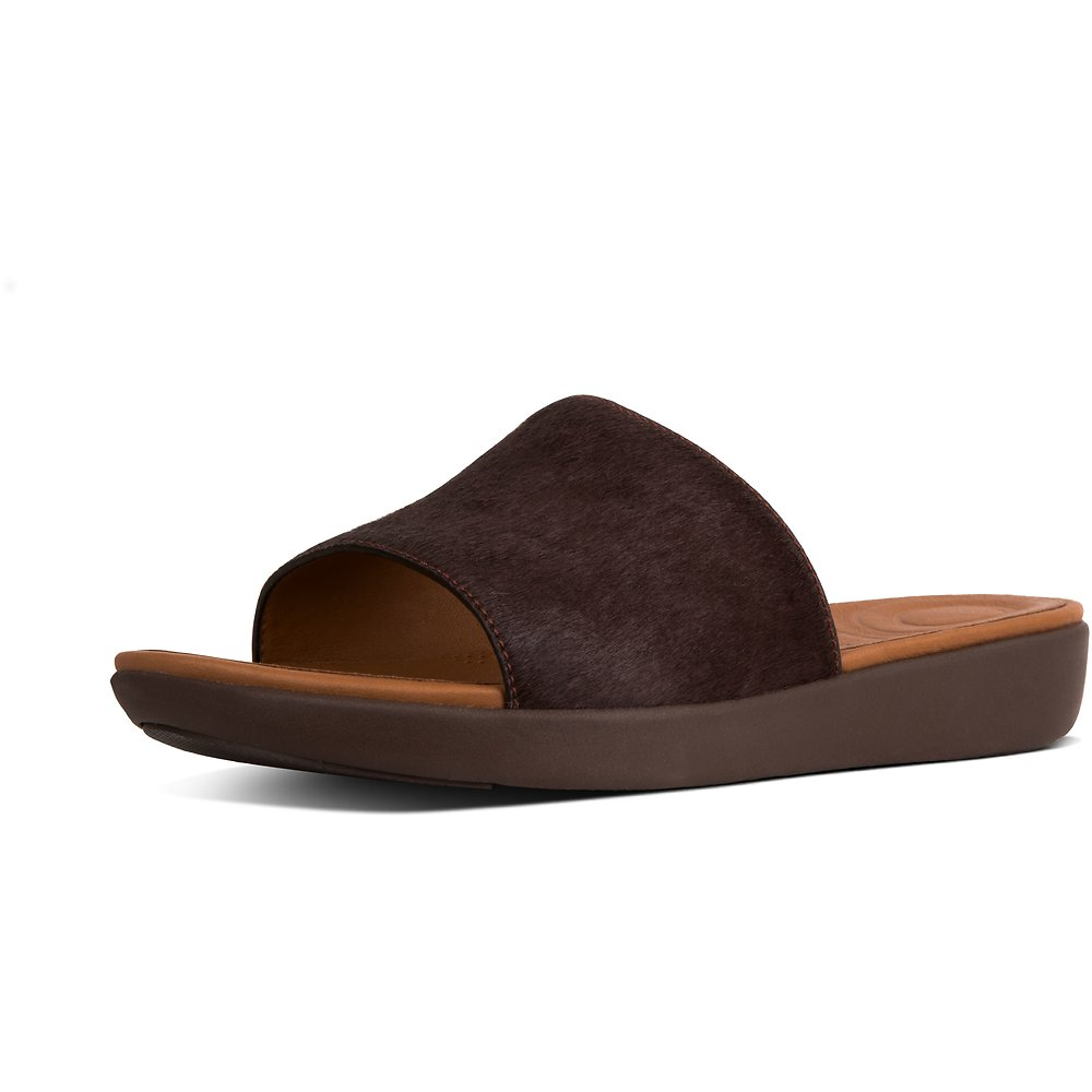 Image of FitFlop Australia BERRY STEFFY DRESS POOL SLIDE PONY HAIR BERRY