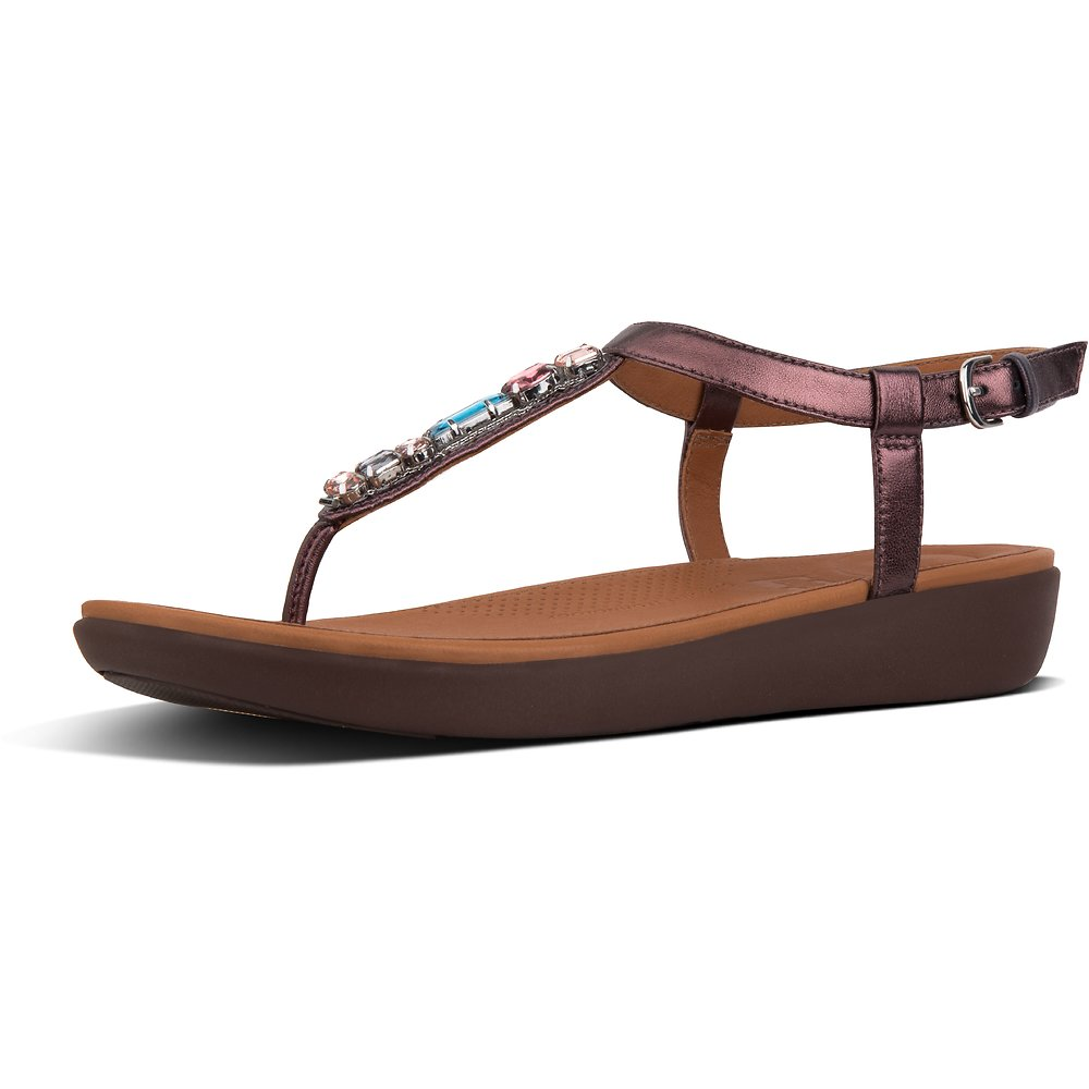 Image of FitFlop Australia BERRY GALAXY JEWEL TIA SANDAL BERRY
