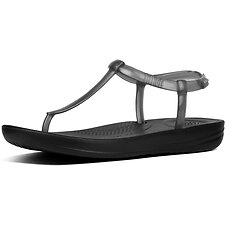 Image of FitFlop Australia BLACK IQUSHION™ SPLASH PEARLISED BLACK