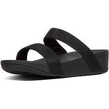 Image of FitFlop Australia BLACK LOTTIE™ GLITZY SLIDE BLACK