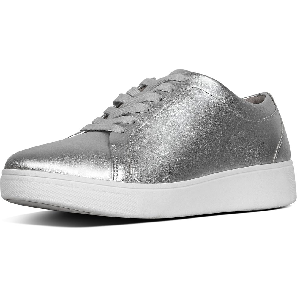 Image of FitFlop Australia METALLIC SILVER RALLY™ SNEAKER SILVER