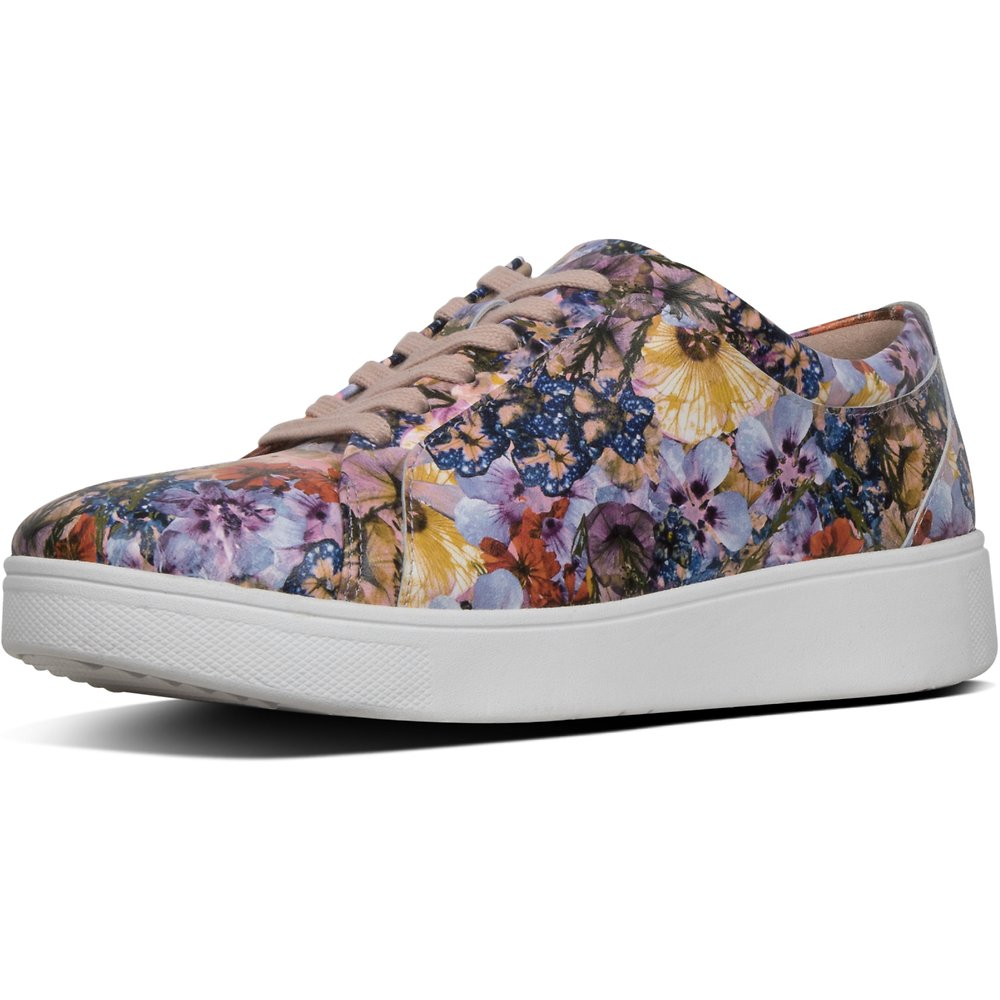 Image of FitFlop Australia OYSTER PINK RALLY™ FLOWERCRUSH SNEAKER OYSTER PINK