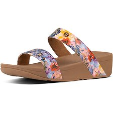 Image of FitFlop Australia OYSTER PINK LOTTIE™ FLOWERCRUSH SLIDE OYSTER PINK