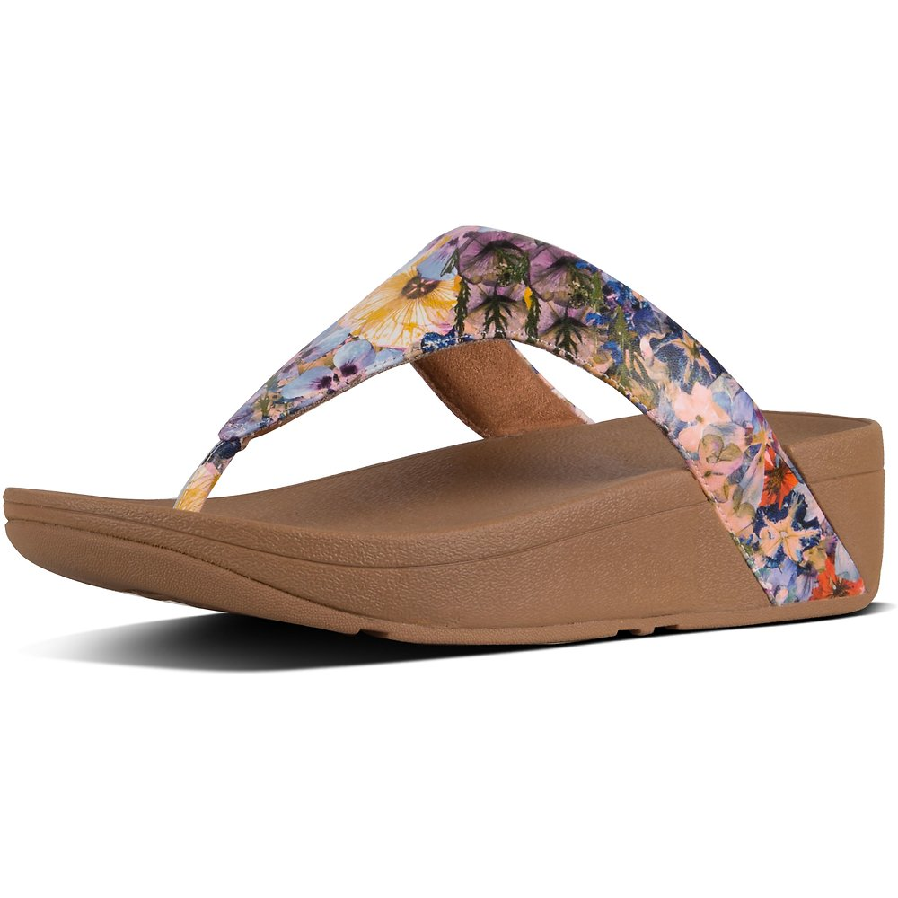 Image of FitFlop Australia OYSTER PINK LOTTIE™ FLOWERCRUSH TOE-THONG OYSTER PINK