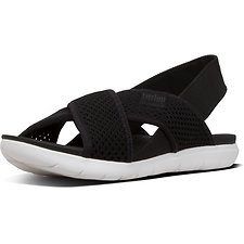 Image of FitFlop Australia BLACK AIRMESH™ BACK-STRAP SANDALS BLACK