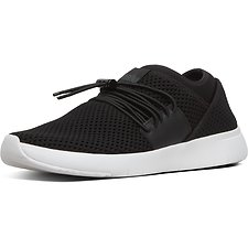 Image of FitFlop Australia BLACK AIRMESH™ LACE-UP SNEAKERS BLACK