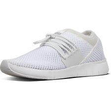 Image of FitFlop Australia URBAN WHITE AIRMESH™ LACE-UP SNEAKERS URBAN WHITE