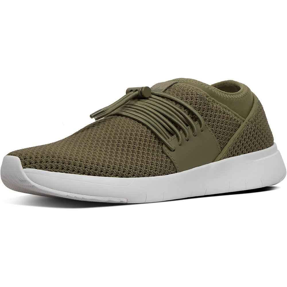 Image of FitFlop Australia AVOCADO AIRMESH™ LACE-UP SNEAKERS AVOCADO
