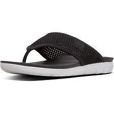 Image of FitFlop Australia BLACK AIRMESH™ TOE-THONGS BLACK