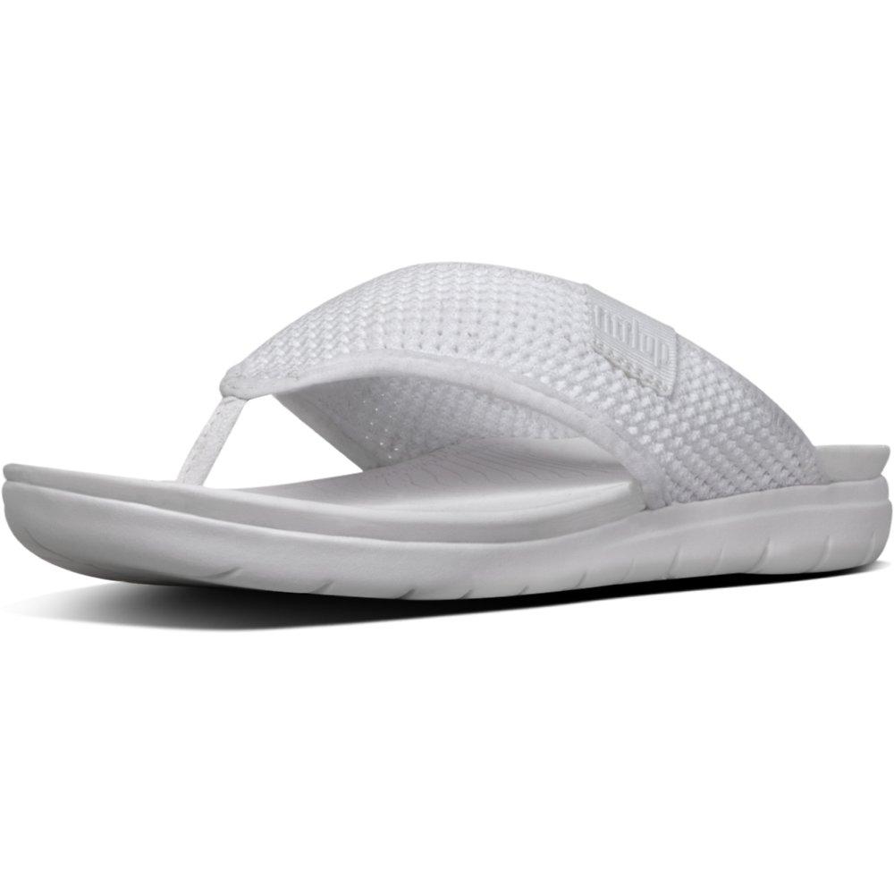 Image of FitFlop Australia URBAN WHITE AIRMESH™ TOE-THONGS URBAN WHITE