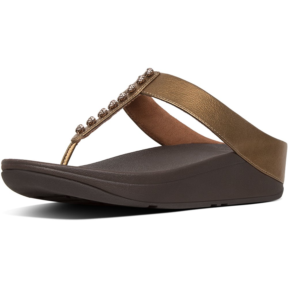 Image of FitFlop Australia BRONZE FINO™ TREASURE TOE-THONGS BRONZE