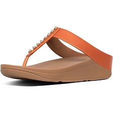 Image of FitFlop Australia AMBER ASH FINO™ TREASURE TOE-THONGS AMBER ASH