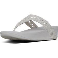 Image of FitFlop Australia URBAN WHITE LOTTIE™ WICKER WEAVE TOE-THONGS URBAN WHITE