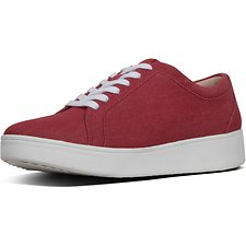 Image of FitFlop Australia ADRENALINE RED RALLY™ CANVAS SNEAKERS ADRENALINE RED