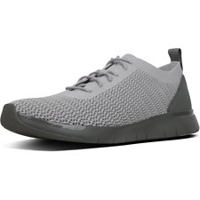 Image of FitFlop Australia LIGHT GREY MEN'S FLEXKNIT™ LACE-UP SNEAKERS LIGHT GREY
