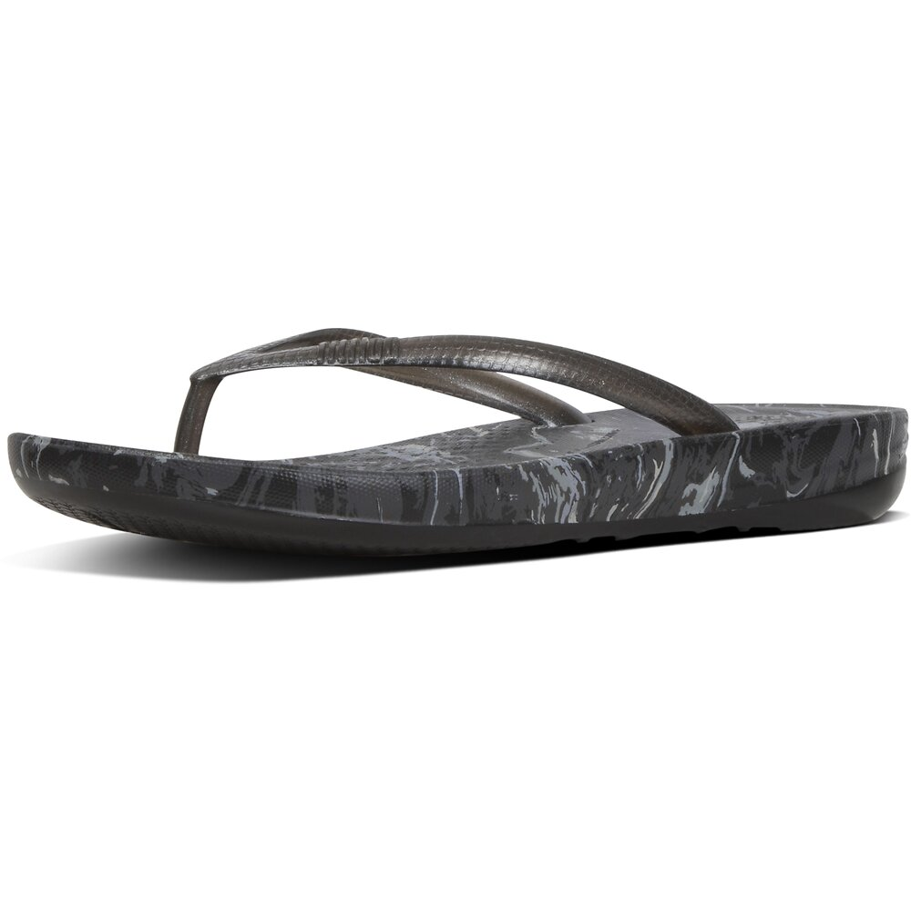 Image of FitFlop Australia ALL BLACK IQUSHION™ MARBLE ALL BLACK