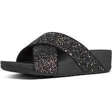 Image of FitFlop Australia BLACK MIX LULU™ GLITTER SLIDES BLACK MIX