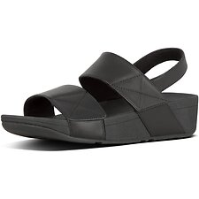Image of FitFlop Australia ALL BLACK MINA™ BACK-STRAP SANDALS ALL BLACK