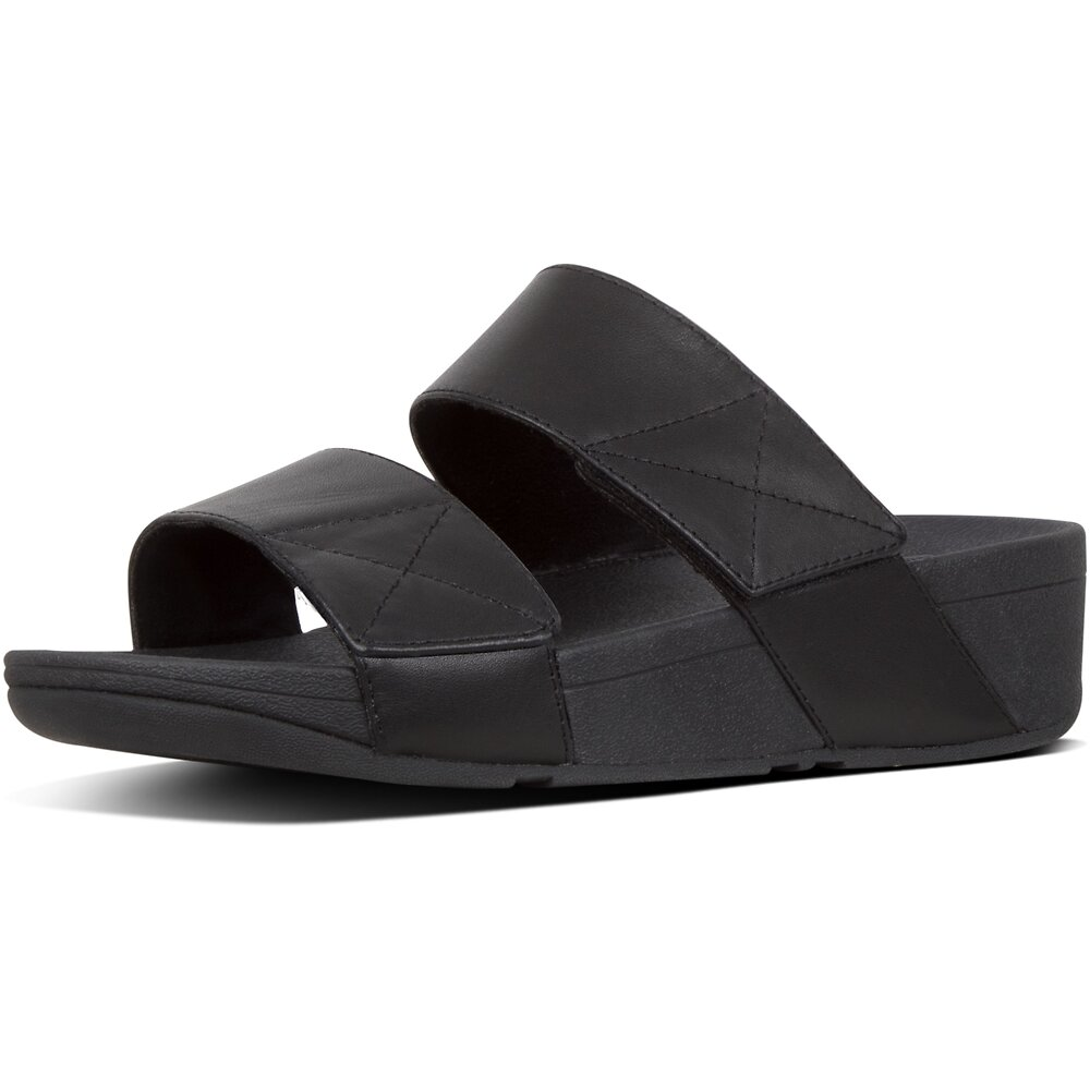 Image of FitFlop Australia ALL BLACK MINA™ SLIDES ALL BLACK
