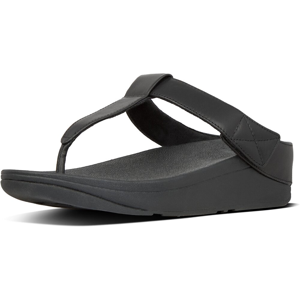 Image of FitFlop Australia ALL BLACK MINA™ TOE-THONGS ALL BLACK