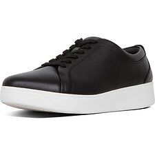 Image of FitFlop Australia BLACK RALLY™ LEATHER SNEAKER BLACK