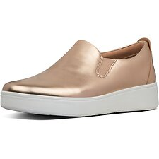 Image of FitFlop Australia ROSE GOLD SANIA™ METALLIC SKATES ROSE GOLD