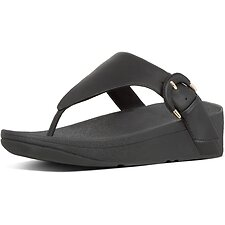 Image of FitFlop Australia BLACK LOTTIE™  BUCKLE TOE-THONGS BLACK