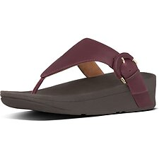 Image of FitFlop Australia LINGONBERRY LOTTIE™ WRAPPED BUCKLE TOE POST LNGNBRY