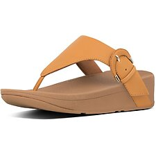 Image of FitFlop Australia MUSTARD LOTTIE™ WRAPPED BUCKLE TOE POST MUSTARD