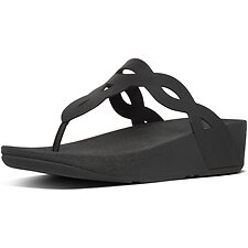 Image of FitFlop Australia ALL BLACK EVA INTERLACE™ TOE-THONGS ALL BLACK