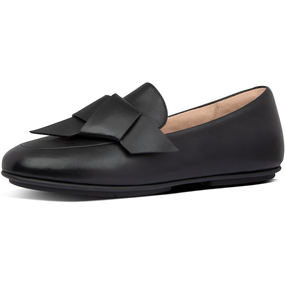 Image of FitFlop Australia ALL BLACK LENA™ KNOT LOAFERS ALL BLACK