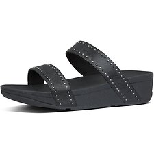 Image of FitFlop Australia ALL BLACK LOTTIE™ MICROSTUD SLIDES ALL BLACK