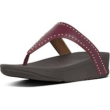 Image of FitFlop Australia LINGONBERRY LOTTIE™ MICROSTUD TOE-THONGS LINGONBERRY